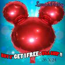 Big Red Minnie Mickey Mouse Head Birthday Party Balloon Disney baby shower boy