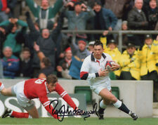 Rory Underwood, Leicester Tigers & England Rugby Union, signé 10x8 Pouces photo.
