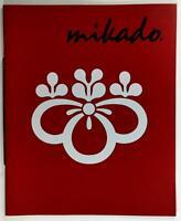 1980's Original Menu MIKADO Japanese Restaurant Detroit Plaza Michigan