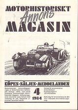 Motorhistoriskt Magasin Annons Swedish Car Magazine 4 1984 Ford 032717nonDBE