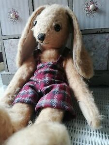 Merrythought Vintage Bunny Poppet Limited Edition 321 Of 500 Compton & Woodhouse