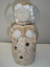 11-Inch Tall Ceramic Angel Tea Light Candleholder/Statue Dickson's Original Box