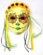 Shumaker Original Hand Painted Ceramic/Pottery Sunflower Mask