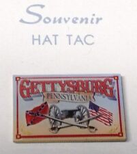 GETTYSBURG CANNON CROSSED FLAGS & SWORDS LAPEL PIN HAT TAC NEW
