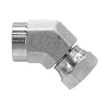 1504 08 06 Hydraulic Fitting 12 Female Pipe X 38 Female Pipe Swivel 45