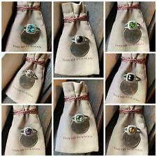 $775 David Yurman Sterling Silver 925 Petite Albion Rings Variation with Diamond