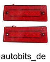 2x 4 LED 24V Rot Begrenzungsleuchte Positionsleuchte Umrissleuchte Schlepper PKW