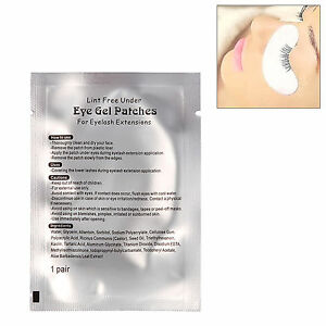 50 Pairs Lint Free Under Eye Gel Patch Pad for Eyelash Lashes Extension Tape