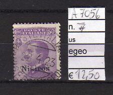 FRANCOBOLLI COLONIE EGEO NISIROS USATI N°7 (A7056)