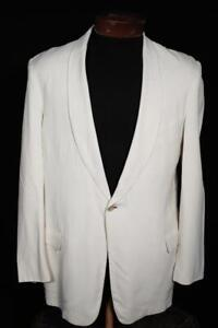 RARE VINTAGE 1950'S AFTER SIX CREAM GABARDINE SHAWL COLLAR TUXED SIZE 37 REGULAR