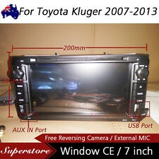 "7"" Car DVD GPS Navigation Stereo head unit player For Toyota Kluger 2007-2013"