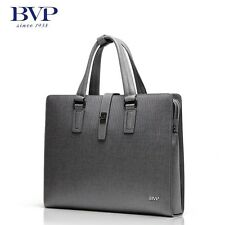 Men Real Leather Business Briefcase Attache Portfolio 13 Laptop Document Package