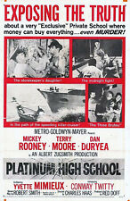 PLATINUM HIGH SCHOOL 1960 Mickey Rooney, Terry Moore US 1-SHEET POSTER