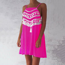 Womens Summer Holiday Sleeveless Evening Party Cocktail Beach Short Mini Dress