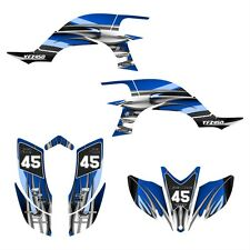 YFZ 450 graphics 2003 2004 2005 2006 2007 2008 Yamaha sticker kit #1300 Blue