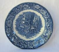 Set Staffordshire Liberty Blue Betsy Ross Historical Colonial Scenes Berry dish