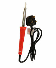 60W Toolzone Soldering Iron  Electric Solder Mains UK Plug Straight Chisel Tip..