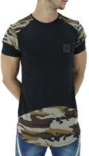 Time Is Money Hombre verano Camuflaje Militar largo Estrella Camisetas NUEVO G
