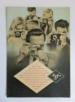 359 Brochure Pub AGFA 1953 - Appareils photos : Synchro box-Billy I-Record III…