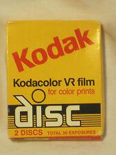 Kodak Kodacolor VR film color prints disc 2 discs 30 exposures *expired 1988 nip