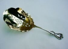 Old Colonial Pierced Cracker Scoop Towle 1895 Sterling Silver Gold Washed Rare!