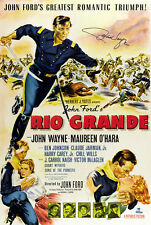 JOHN WAYNE Rio Grande Signed Autograph Film/Movie Poster A2 Large Size Very Rare