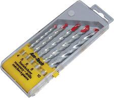 5pc Masonry Drill Bit Set   4, 5, 6, 8, & 10mm Storage Case New