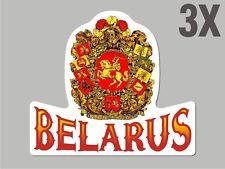 3 Belarus Belorussian shaped sticker flag crest decal car bike Stickers CN043