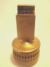Vintage.....Brass......Stick....Match...Holder..&..Ashtray..W/...Ohio.Blue.Tip