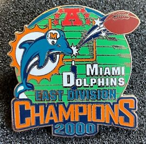 MIAMI DOLPHINS ~ 2000 AFC EAST DIVISION NFL CHAMPIONS LAPEL PIN Willabee & Ward