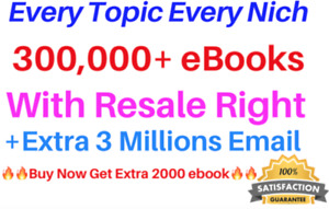 300000 digital books PLR Collection bonus 3M Active Emails