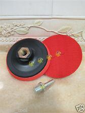 2 x 4.5 inch 115mm M14 thread arbor polishing pad holder hook loop back adaptor