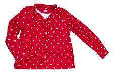 Carter's Girl's Size 12 Red Polka Dot Print Button Down Long Sleeve Pajama Top
