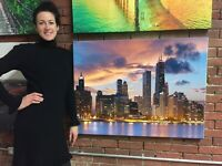 Chicago Canvas Print Ready to Hang Wall Art Decoration Downtown Skyline