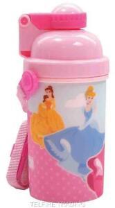 DISNEY PRINCESS CHILDS KIDS FLIP TOP FLASK DRINKS JUICE WATER BOTTLE NEW