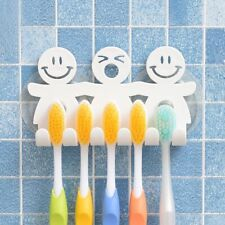 Funny Toothbrush Holder Wall Mounted Kids Suction Cup Bathroom Shower Set Rack