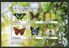 Micronesia 2014 MNH Butterflies 6v M/S II Insects Swallowtail Peacock Butterfly