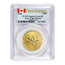 1 oz 2008 Royal Canadian Mint Maple Leaf First Strike 99999 PCGS Superb Gem Gold