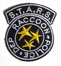 "Resident Evil STARS Raccoon Police Black/Yellow 3.25"" Patch- FREE S&H (REPA-108)"