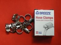 """Stainless Steel Band  Hose Clamps #4 7/32""""-5/8"""" *Made in USA*  Qty of 20  (sb15"""