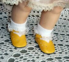 "Summer Yellow Doll Shoes for 21"" Saucy Walker type Dolls"