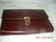 H LAUFER CLUTCH PURSE WITH CARD HOLDERS AND ZIPPER POCKETS