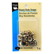 Dritz Heavy Duty Snaps Nickel - Size 24, 5/8 Inch, 7 Sets/Package 5-1