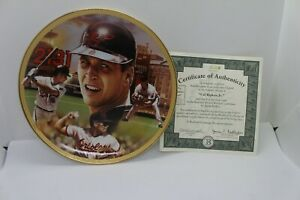 "Bradford Editions 1995 Cal Ripken Jr. ""Record Breaker"" FIRST ISSUE  plate coa"