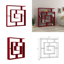 Geometric Bookcase Decor Modern Bookshelf Display Shelving Room Divider Burgundy
