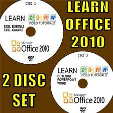 LEARN OFFICE 2010 SIMPLE VIDEO TRAINING EASY TUTORIALS/PRACTICE FILES 2 PC-DVDs
