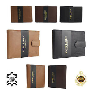 Herren Geldbörse Männer Portemonnaie Kreditkarten-Etui Geldbeutel Brieftasche