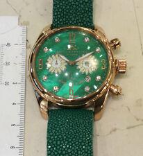 Bello&Preciso Milano orologio chrono verde nuovo  placcato oro cassa mm 40,00