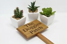 personalised garden signs made from solid Oak