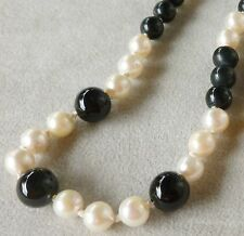 Halsketten und Anhänger aus Edelsteinen mit Onyx Unbehandelte runde